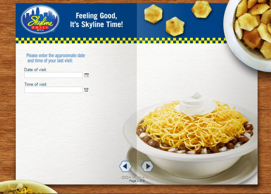 Skyline Chili Satisfaction Survey