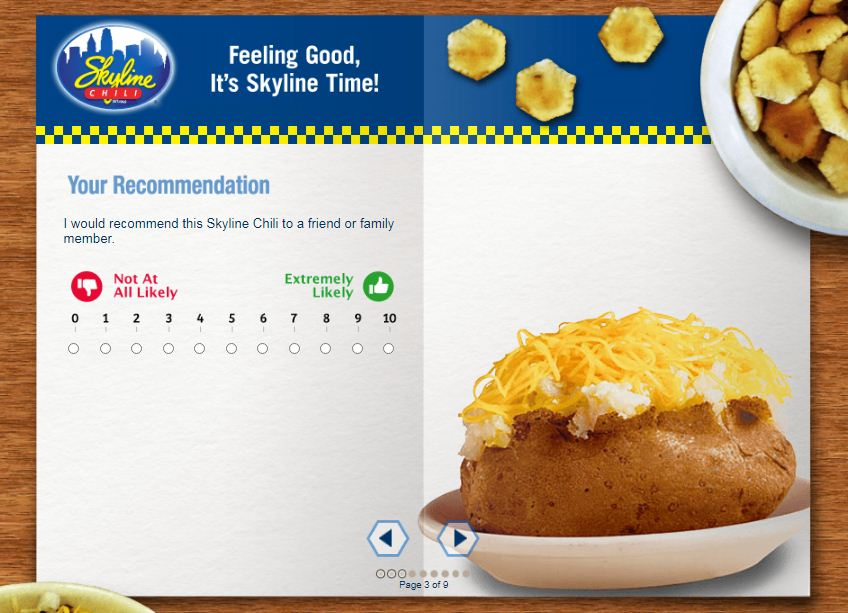 Skyline Chili Guest Opinion Survey