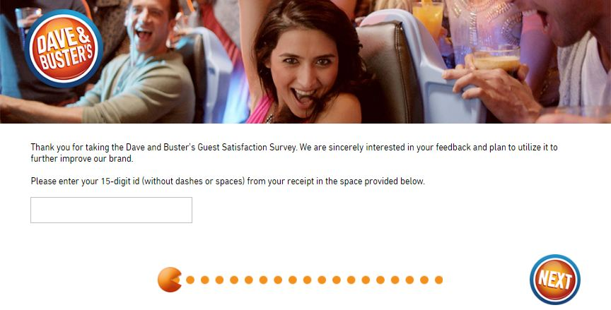 Dave & Busters Survey 1st
