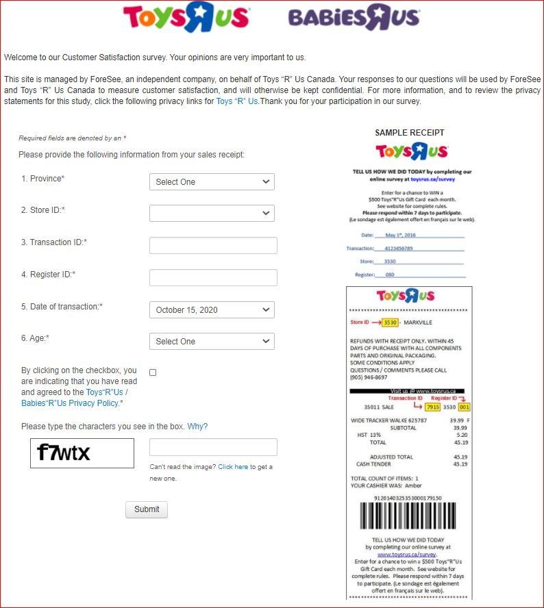 Toys R Us Survey 2nd