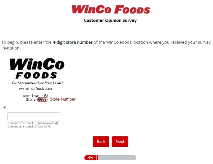 WinCo Foods Survey 2nd